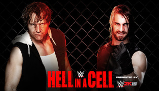 Ambrose Rollins Hell in a Cell
